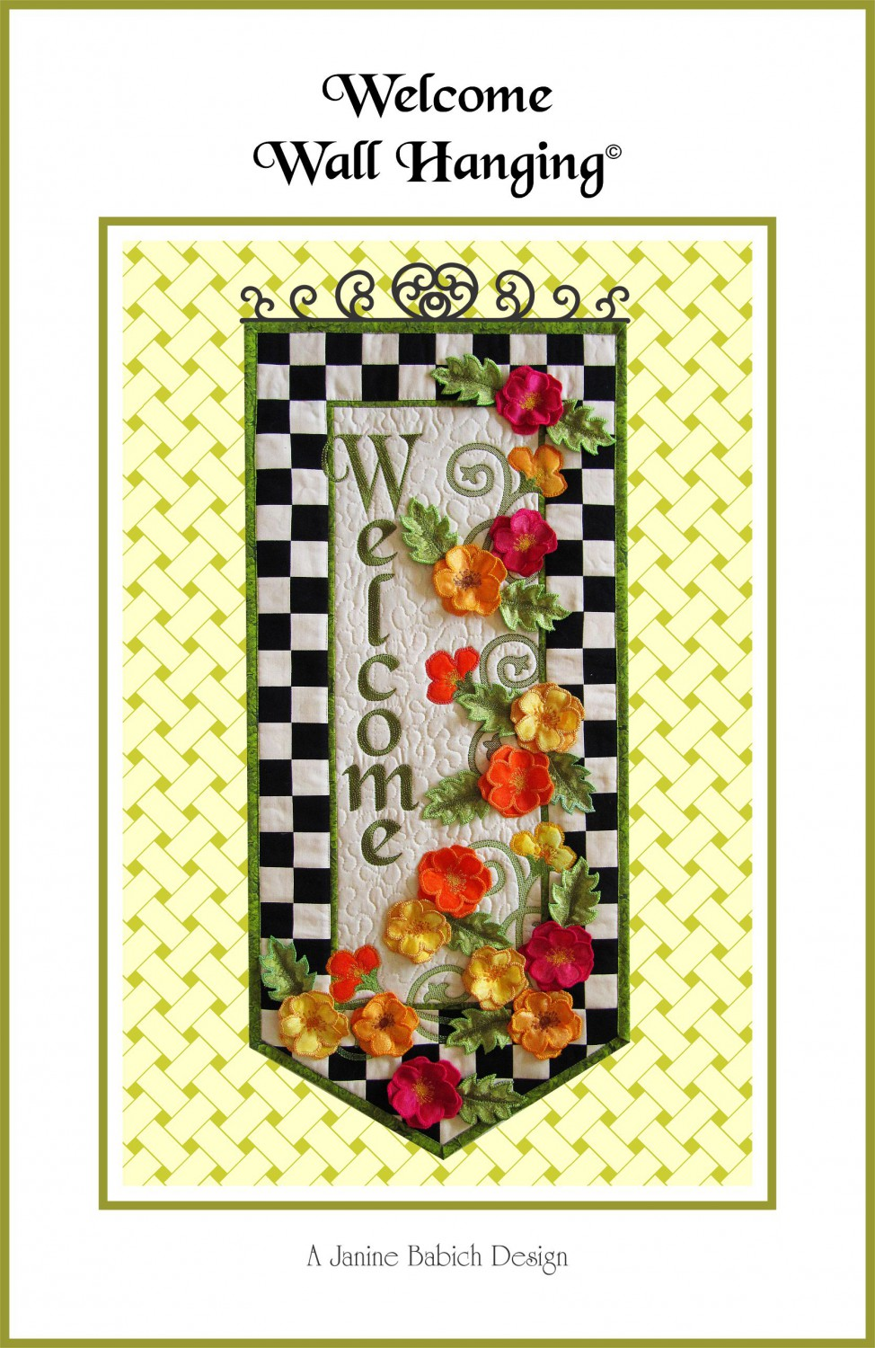 CD Welcome Wall Hanging Machine Embroidery - 015568679872