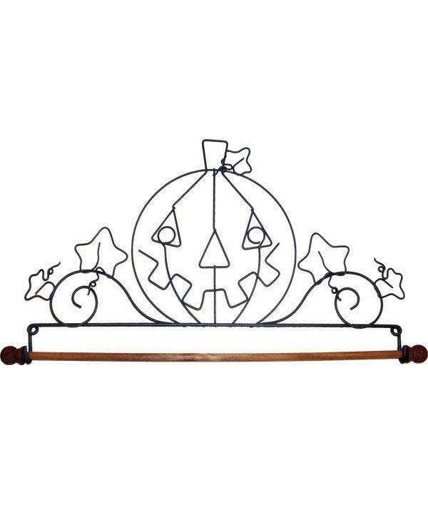 22in Pumpkin Fabric Holder