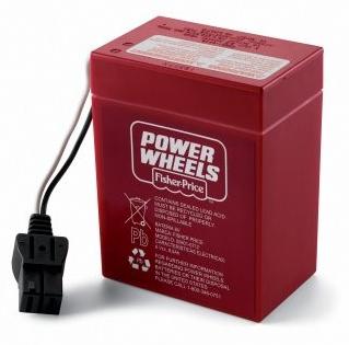 Genuine Power Wheels S6V Battery (RED) Part #00801-0481 (00801-0712)