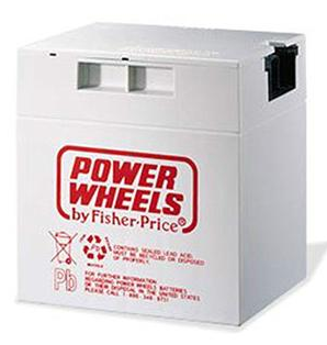 Genuine Power Wheels 12V Battery (Gray) Part #00801-0638, #00801-0930 (00801-1869)