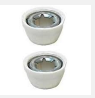 Power Wheels White Wheel Retainer Cap Nuts, 2-Pack 00801-1452