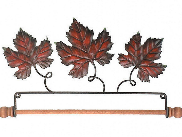 7-1/2in Autumn Leaf Fabric Holder