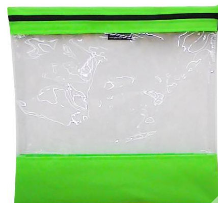 Bag See Your Stuff 10in x 11in Light Green