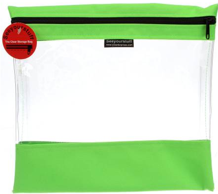Bag See Your Stuff 12in x 13in Light Green