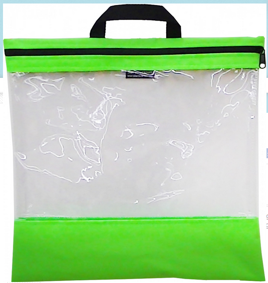 Bag See Your Stuff 16in x 16in Light Green