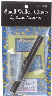 4-1/2in Metal Wallet/Purse clasp in Bronze