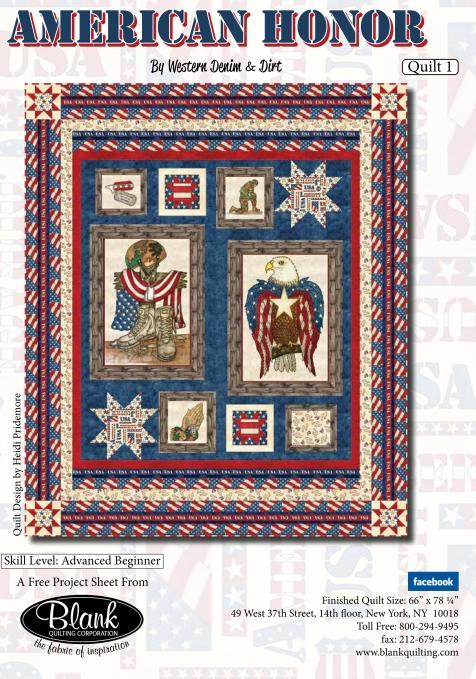AMERICAN HONOR QUILT KITS
