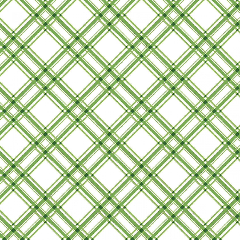 KimberBell Basics  Green Diagonal Plaid # 8244M-G