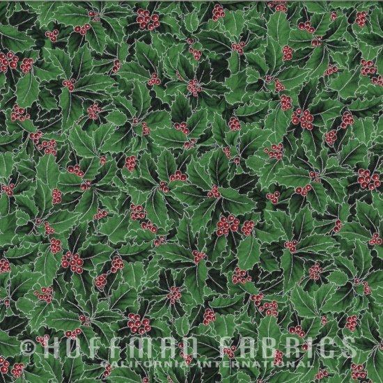 Hoffman Poinsettia Song - Holly Berry N7529-55S