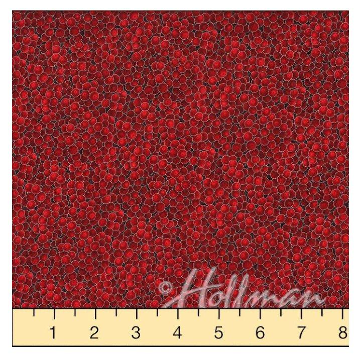Hoffman Fabrics Winter Magic Red/Silver Berries G8556-5S