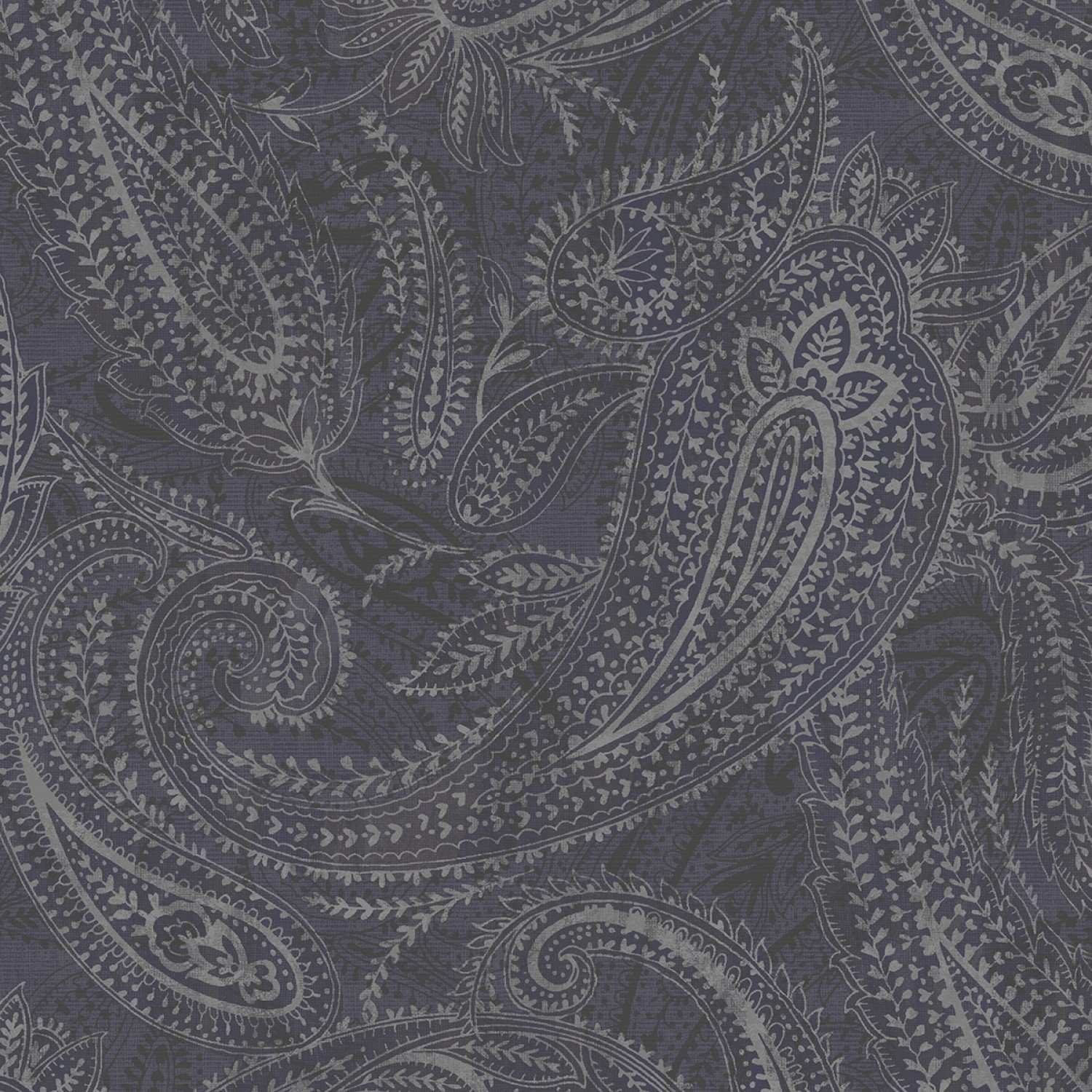Grey Paisley 108in Quilt Back