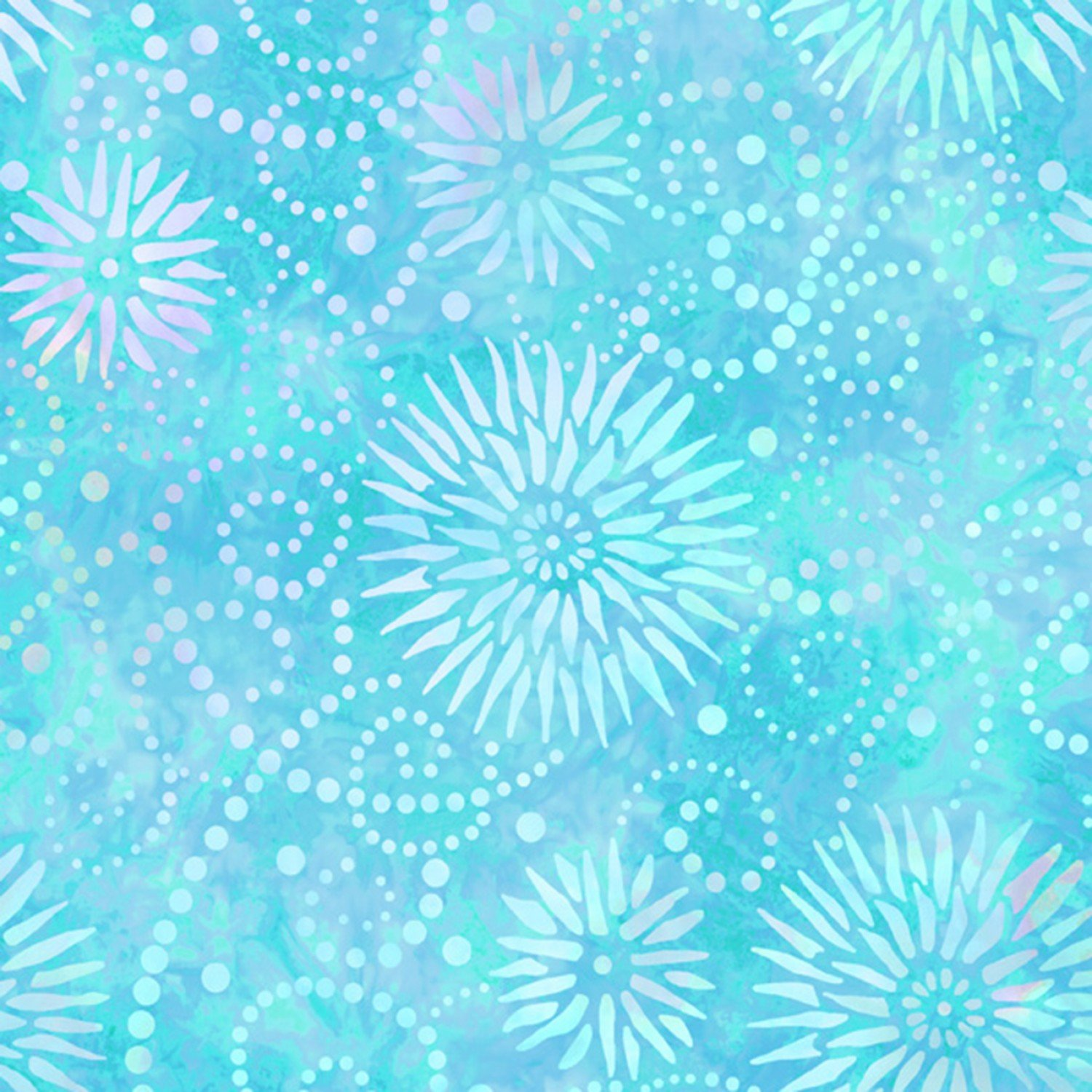 Blue Flower Burst 108in Wide Back
