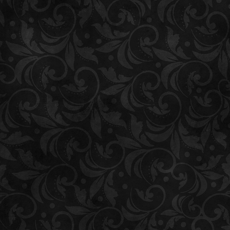 Black Vintage Scroll 108in Wide Back