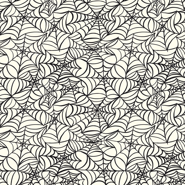 Hocus Pocus Spiderwebs Cream # C9493R-CREAM