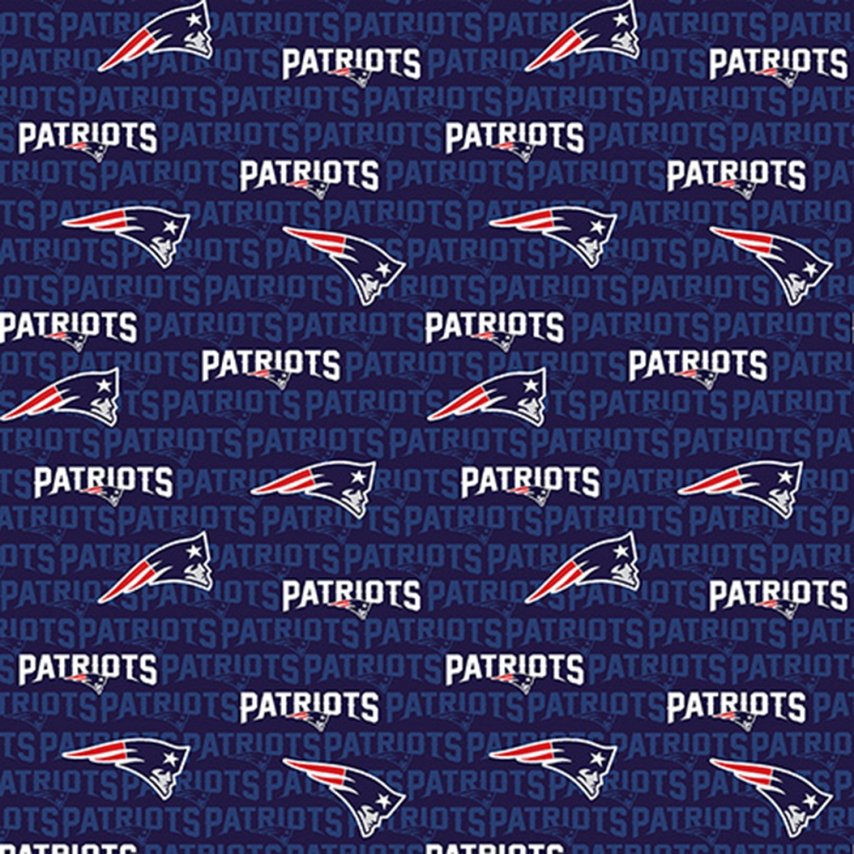 NFL Football New England Patriots Cotton Print # 14500-D