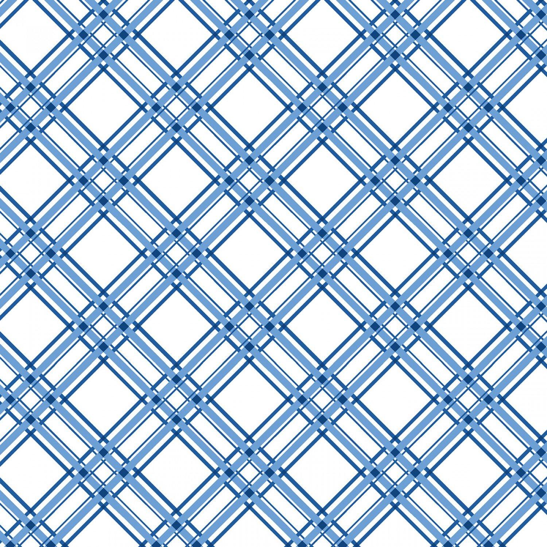 Blue Diagonal Plaid # 8244M-B