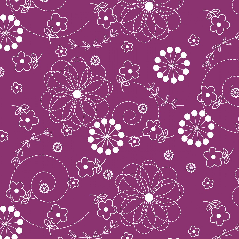 Violet Red Doodles # 8246M-VR