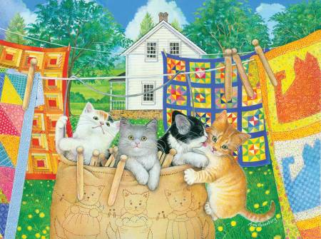 Clothesline Kittens Puzzle