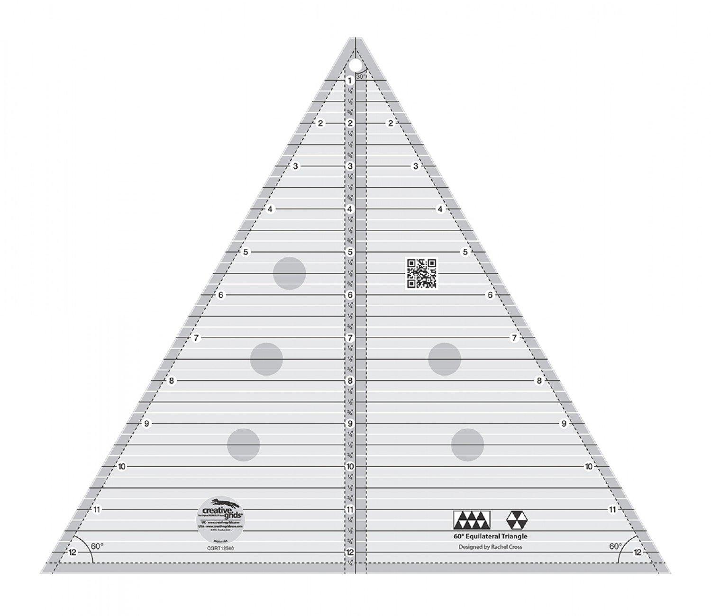 60 Degree Triangle Ruler 12 1/2