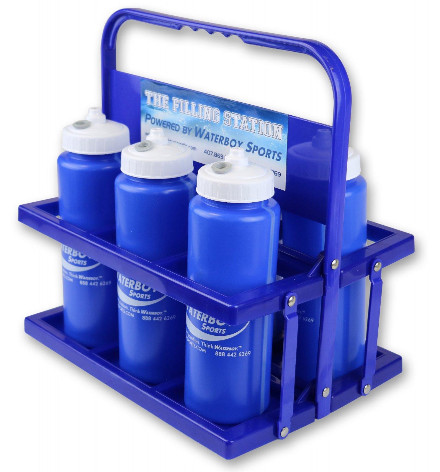 Collapsible Bottle Carrier w/ 6 Bottles (DB-6PK +)