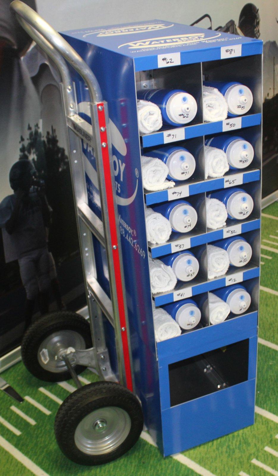 Cubby Cart, 20-place w/ soiled towel bin