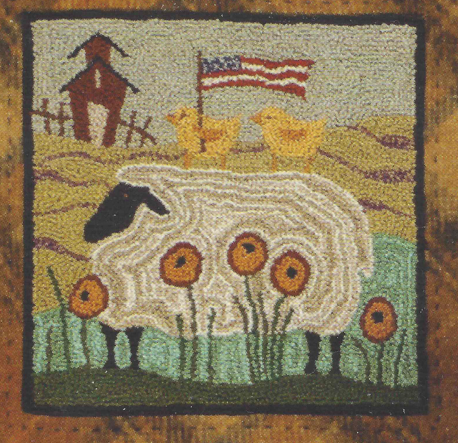 Two Chicks on the Lamb Pattern