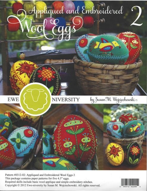 Ewe-Niversity Wool Applique Eggs #2 Pattern
