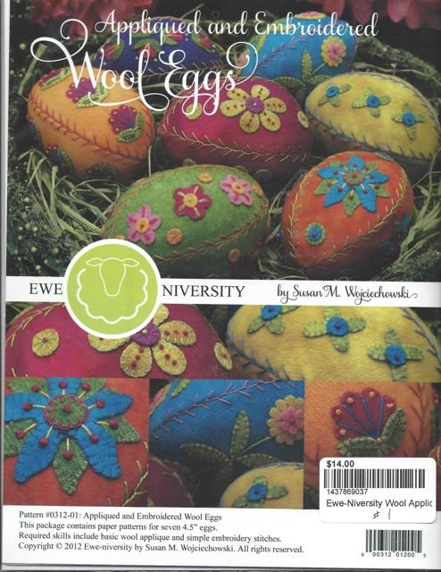 Ewe-Niversity Wool Applique Eggs #1 Pattern