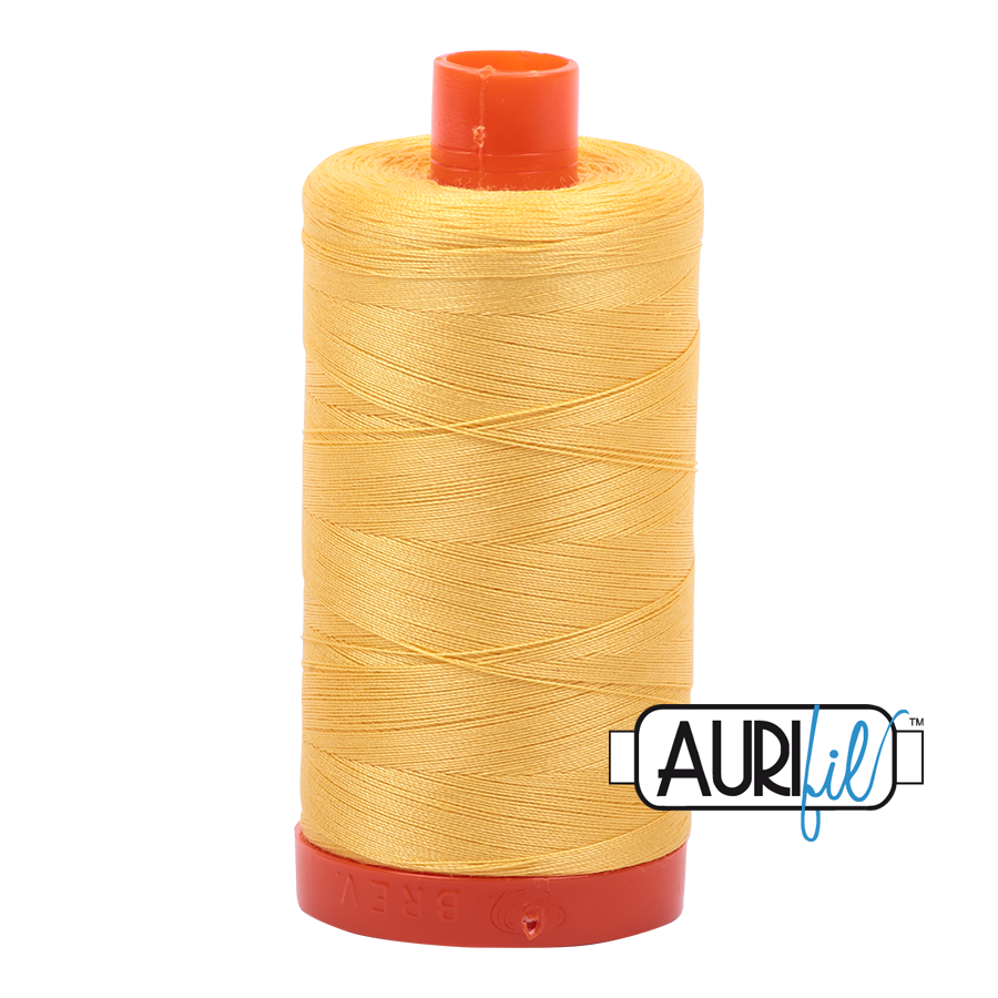 Aurifil Cotton Mako Thread Pale Yellow 12wt 50m (1135)