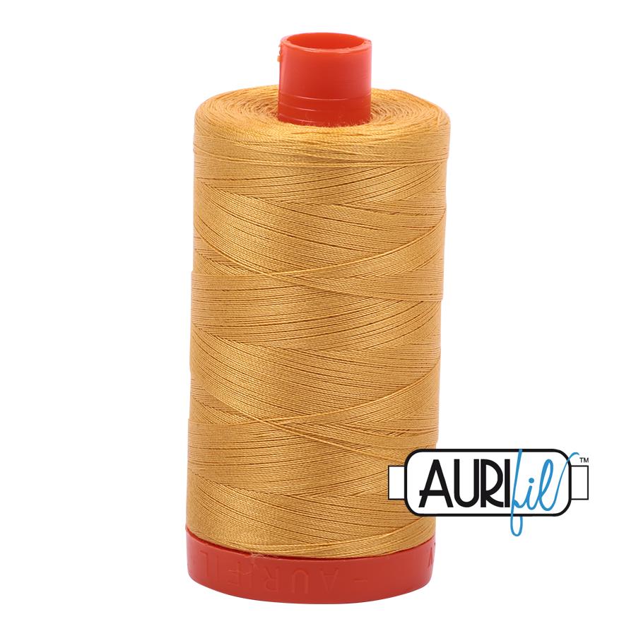 Aurifil Mako Cotton Thread Tarnished Gold 12wt 325m (2132)