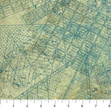 *A Stitch In Time Rulers on Teal Tonal