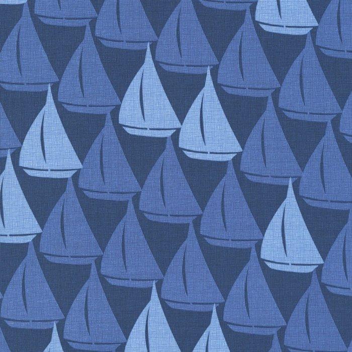 Blue Sailboats on Blue