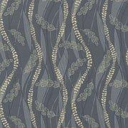 Cream Seaweed and Waves on Gray