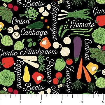 *Farm to Table veggies and names on black
