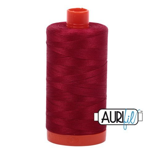 *Aurifil Cotton Mako Thread Wine 12wt 55yds