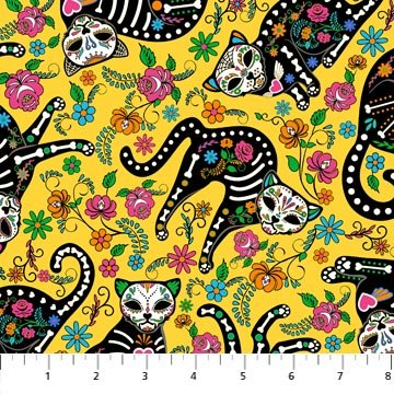 *Nine Lives cats on yellow