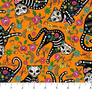 *Nine Lives cats on orange
