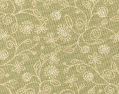 *Home to Roost floral green tonal