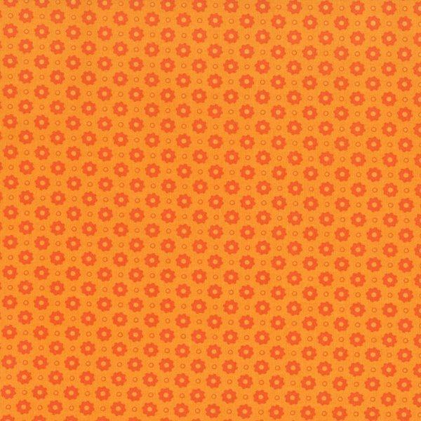 Orange Flowers on Orange Tonal