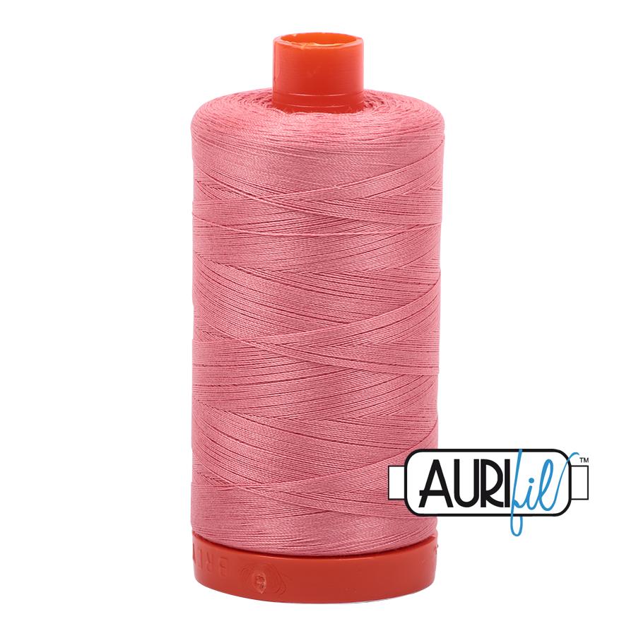 Aurifil Cotton Mako Thread Peachy Pink 12wt 50m (2435)