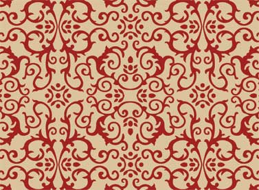 Coonawarra Tan Large Red Scrolls