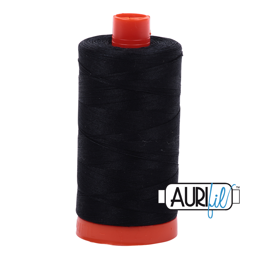 Aurifloss 6 Strand Cotton Floss Black 16 Meters
