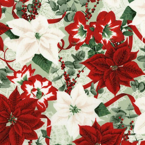 Let It Sparkle Holiday Bouquet Large Poinsettia