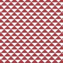 Hazel Red and White Triangles