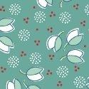 Hazel Little Petals on Turquoise