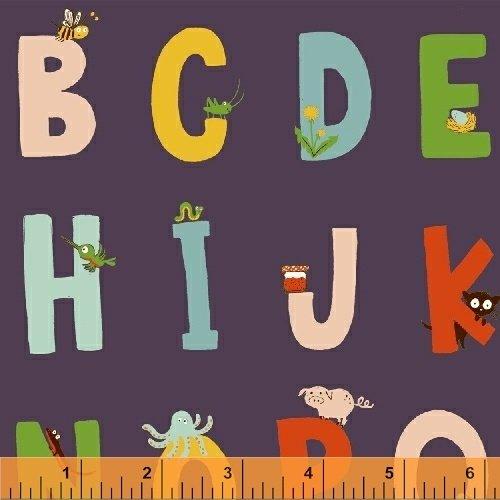 *Kinder alphabet on purple by Heather Ross