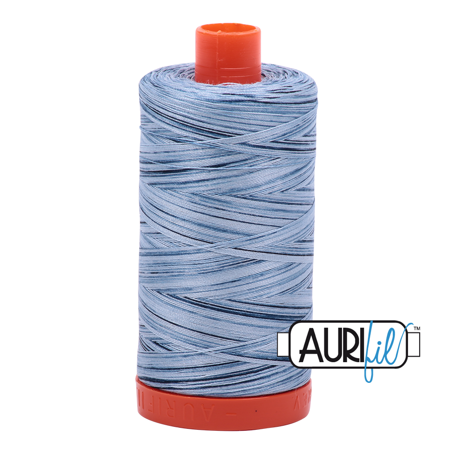Aurifil Cotton Mako Thread Stonewash Blues 12wt 50m (4669)