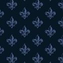 Love From Paris Blue on blue fleur de lis