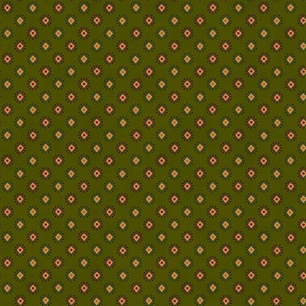 Winter Blessings Cream Geometrics on Green