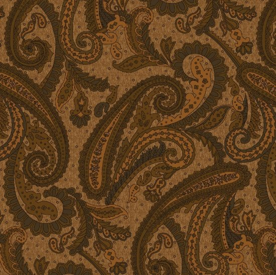 *Katie's Cupboard Large Paisley on Brown